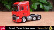 Herpa 311571 Renault T Range 6x2 voorloopas trekker Rood