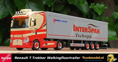 Herpa 311618 Interspan Tschopp AG Renault T Walkingfloortrailer