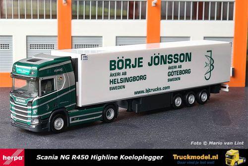 Herpa 311953 Borje Jonsson Scania NG R Highline koeltrailer