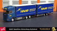Herpa 312028 Haaf Spedition Scania S450 wipkar volume combinatie