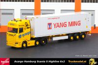 Herpa 312318 Acargo Yang Ming Scania S containertrailer