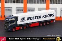 Herpa 312547 Wolter Koops Scania S520 Highline koeltrailer
