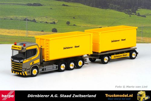 Herpa 312660 Dornbierer Scania NG R Haakarm container combi