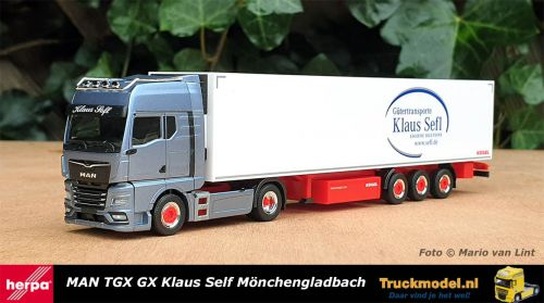 Herpa 312677 Klaus Sefl MAN TGX GX Koeltrailer
