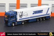Herpa 312714 Johann Seubert MAN TGX GX Koeltrailer