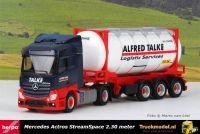 Herpa 312868 Alfred Talke Mercedes StreamSpace smal tankcontainertrailer