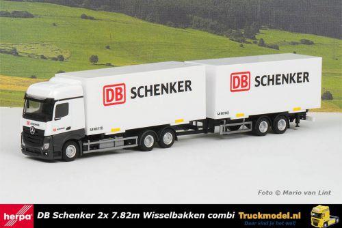 Herpa 312967 DB Schenker Mercedes Actros wisselbakken combi