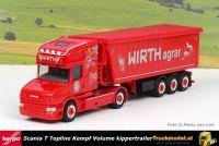 Herpa 313018 Otmar Wirth Agrar Scania T Topline Volume kippertrailer