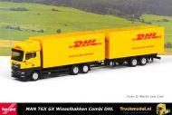 Herpa 313049 DHL MAN TGX GX wisselbakken wipkar combinatie