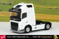 Herpa 313346 Volvo FH05 Globetrotter XL 4x2 trekker wit