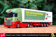 Herpa 313438 Wandt Iveco S-Way trekker schuifzeiltrailer