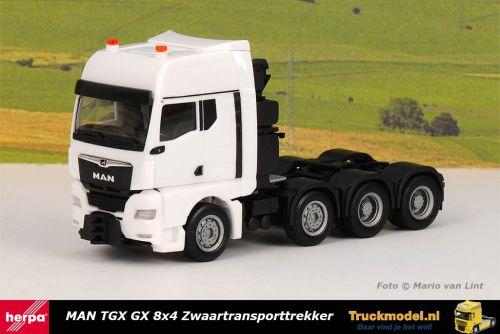 Herpa 313513 MAN TGX GX 8x4 Zwaartransporttrekker Wit