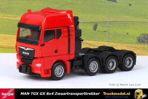 Herpa 313520 MAN TGX GX 8x4 Rode Zwaartransporttrekker