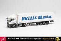 Reservering Herpa 313544 Willi Betz MAN TGX GM boxtrailer