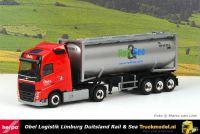 Herpa 313841 Obel Logistik Volvo FH04 30ft kipper bulkcontainer trailer