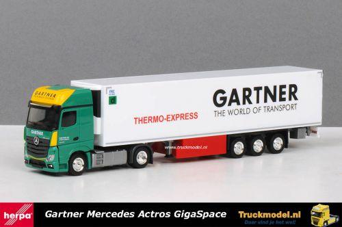 Herpa 401817 Gartner Thermo-Express Mercedes-Benz Actros Koeltrailer
