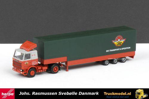 Herpa 491 Johs Rasmussen Scania R142 huif volume oplergger