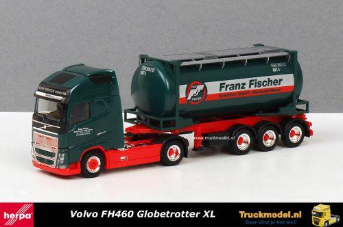 Herpa Exclusief 5037 Franz Fischer Volvo FH460 XL Swaptankcontainer trailer