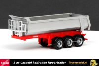 Herpa 76241-002 3 as Carnehl halfronde kippertrailer