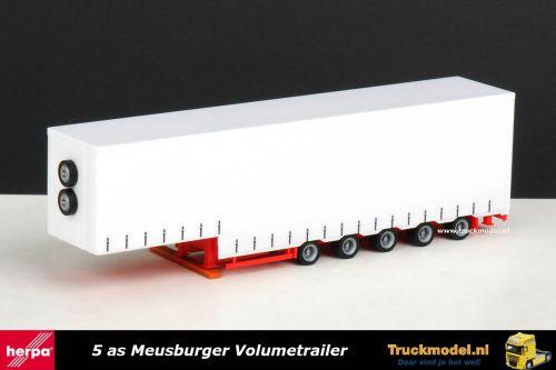 Herpa 76265 Meusburger Volume schuifzeiloplegger dieplader