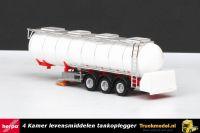 Herpa 76463-002 4 Kamer Levensmiddelen tankoplegger Wit rood