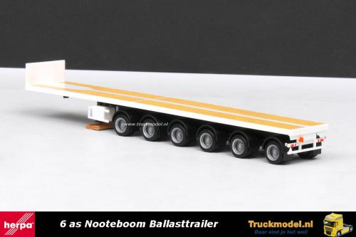 Herpa 76715 Nooteboom 6 as ballasttrailer basis wit