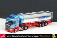 Herpa 913713 Anhalt Bargen Scania R Streamline Highline 6x2 Tankoplegger