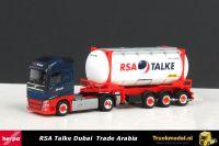 Herpa 917834 RSA Talke Dubai Trade Arabia Volvo FH Globetrotter tankcontainer oplegger