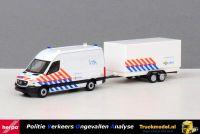 Herpa 937009 Politie VOA Mercedes-Benz Sprinter bus met aanhangwagen