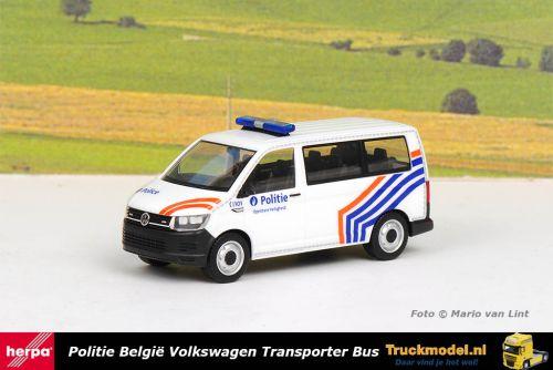 Herpa 941914 Politie Belgium Volkswagen T6 Bus