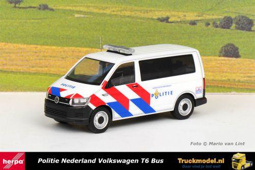 Herpa 941921 Politie Nederland Volkswagen T6 Bus