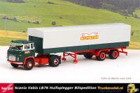 Herpa Modellbau Schwarz 026017 Bilspedition Scania LB76 Huifoplegger