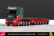 Herpa 307871 Kahl Schwerlast Mercedes 8x4 Ballasttrailer