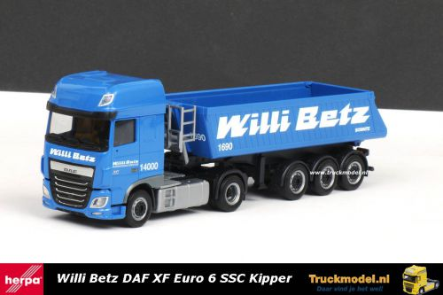 Herpa 308119 Willi Betz DAF XF Euro 6 SSC kippertrailer