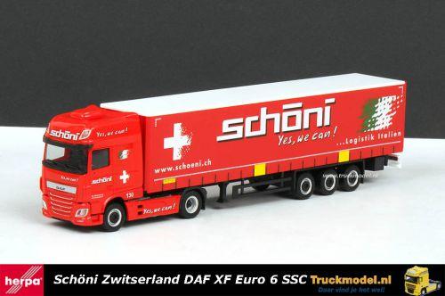 Herpa 309301 Schöni Transport CH DAF XF SSC schuifzeiloplegger