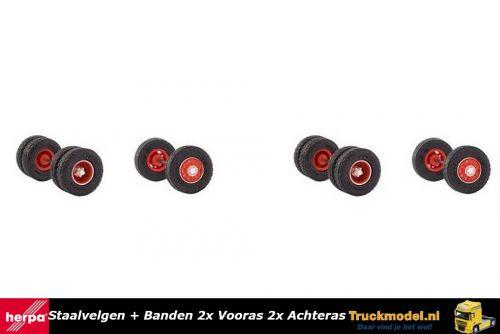 Herpa 87MBS026031 Staalvelgen met straatprofiel banden