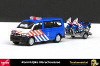 Herpa 930932 Koninklijke Marechaussee VW T6 Bus met aanhanger en 2 motorfietsen