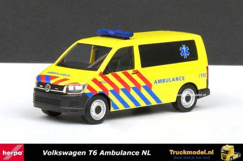 Herpa 930956 Ambulance NL Volkswagen Transporter T6