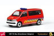 Herpa 930963 Volkswagen T6 Bus Brandweer Belgium