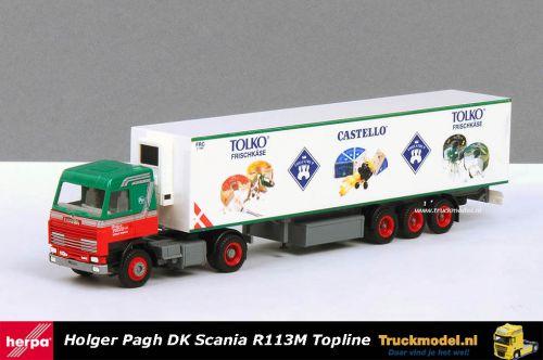 Herpa 142670 Holger Pagh DK Scania R113M Topline koeloplegger