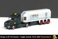 Herpa 239936 H.Freund Vegla Scania T124 Binnenlader Glastransporter