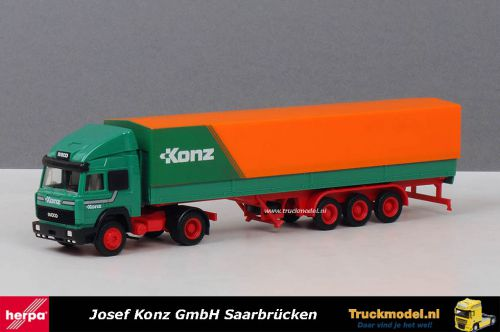 Herpa WDV Josef Konz GmbH Iveco TurboStar huifoplegger