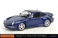 Maxichamps 940 069201 Porsche 911 Turbo 1993 Blue metallic