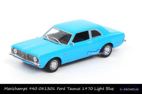 Maxichamps 940 081301 Ford Taunus 1970 Light Blue