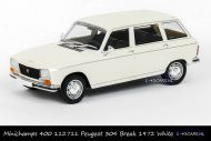 Minichamps 400 112711 Peugeot 304 Break 1972 White