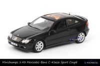 Minichamps B6 696 1918 Mercedes-Benz C-klasse Sport Coupé Evolution Obsidian Black