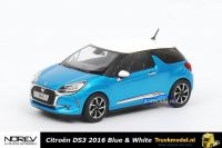 Norev 155261 Citroen DS3 2016 Belle lle Blue and White