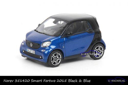 Norev 351420 Smart Fortwo 2015 Black Blue