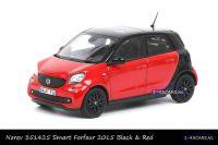 Norev 351425 Smart Forfour 2015 Zwart Rood