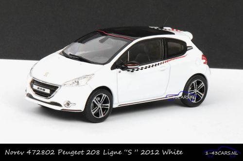 Norev 472802 Peugeot 208 Ligne S 2012 White